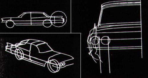 1964 de Sketchpad ile çizilmiş araba