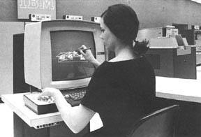 IBM 2250 - cad cizimi yapan bir kiz