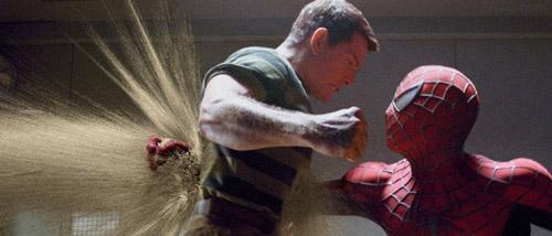 Spider man filmindeki kum adam houdini ile yapıldı