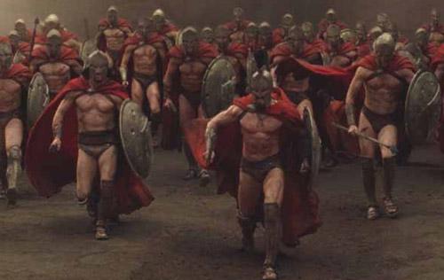 300 spartalı filmindne bir sahne