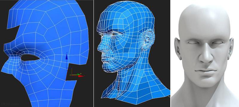 Edit poly teknigi ile insan modelleme