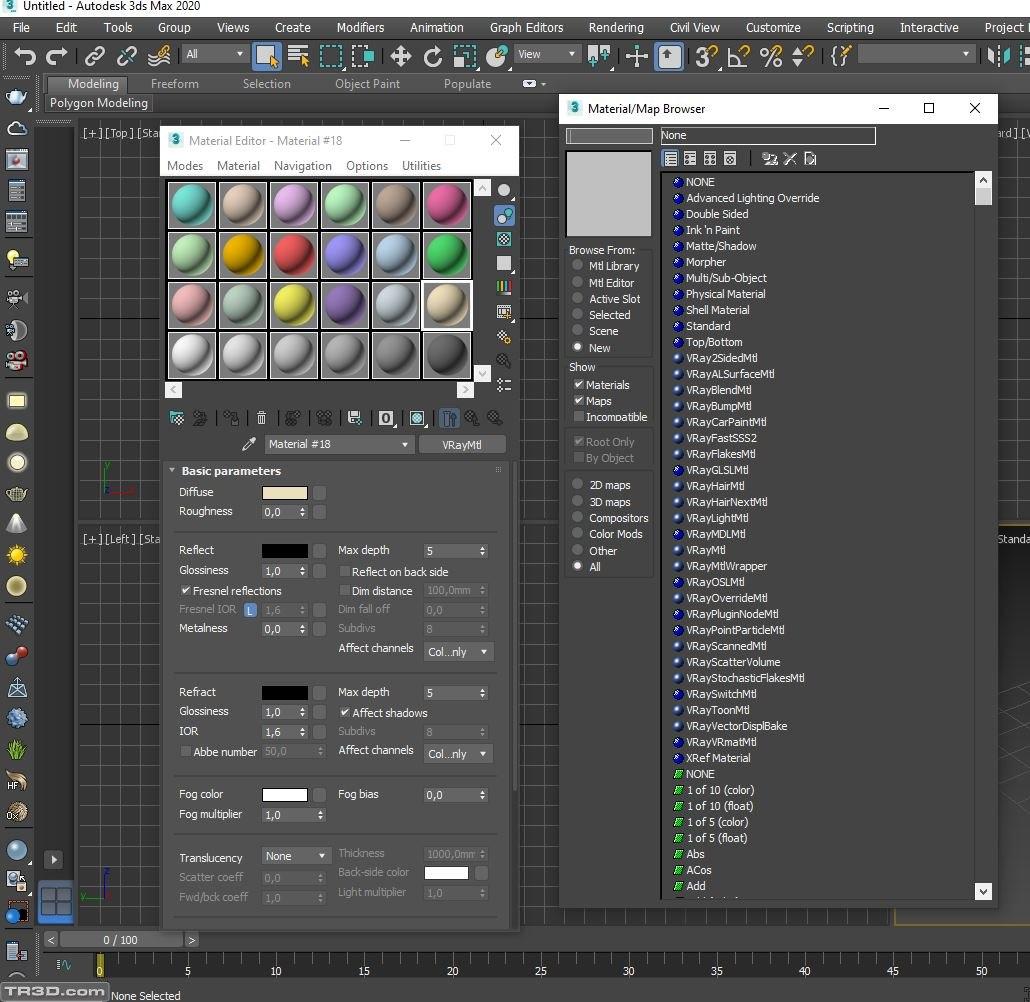3ds max 2020 material editör sorun