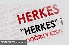 Türkçe kelimelere lütfen dikkat