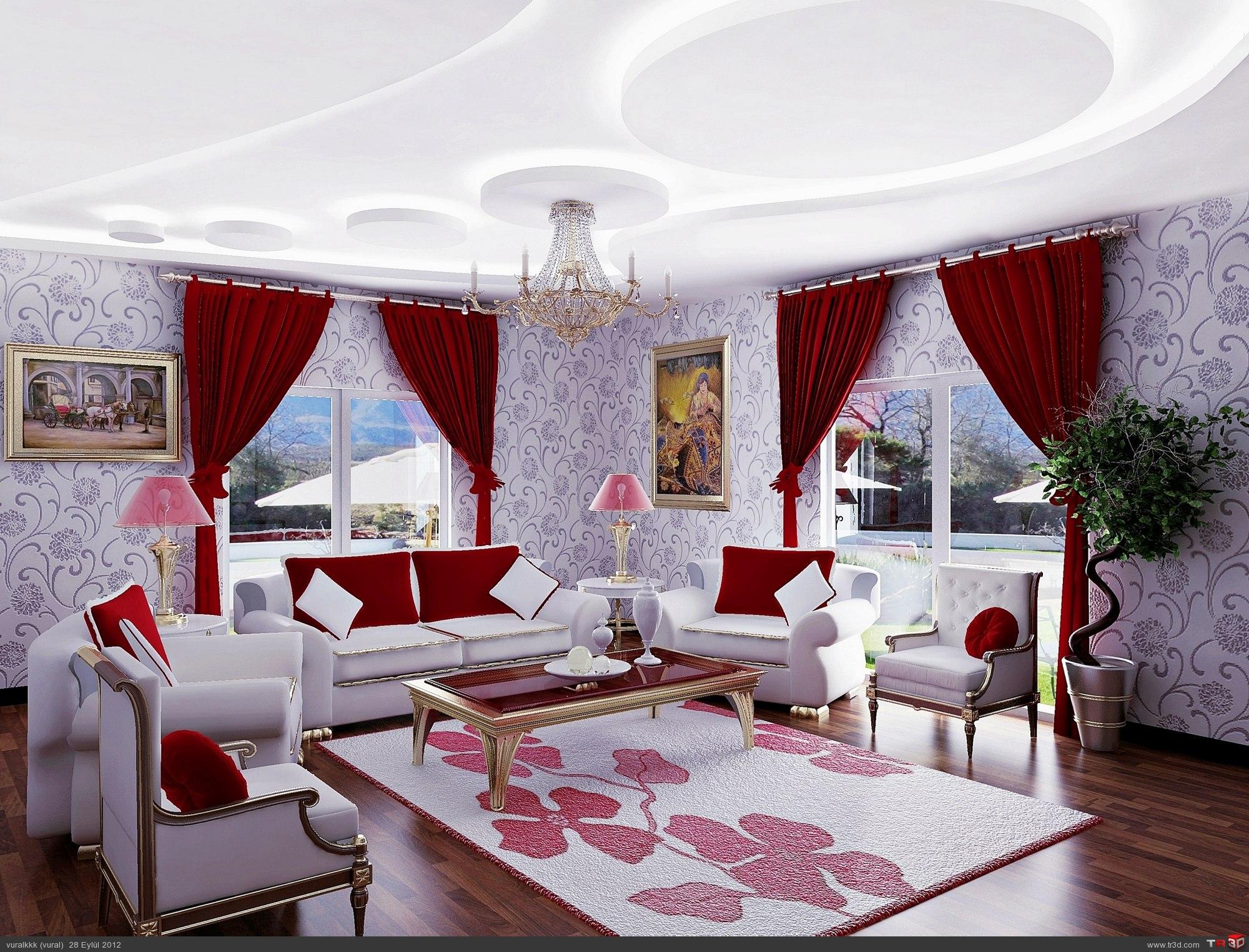 villa salon çalışması