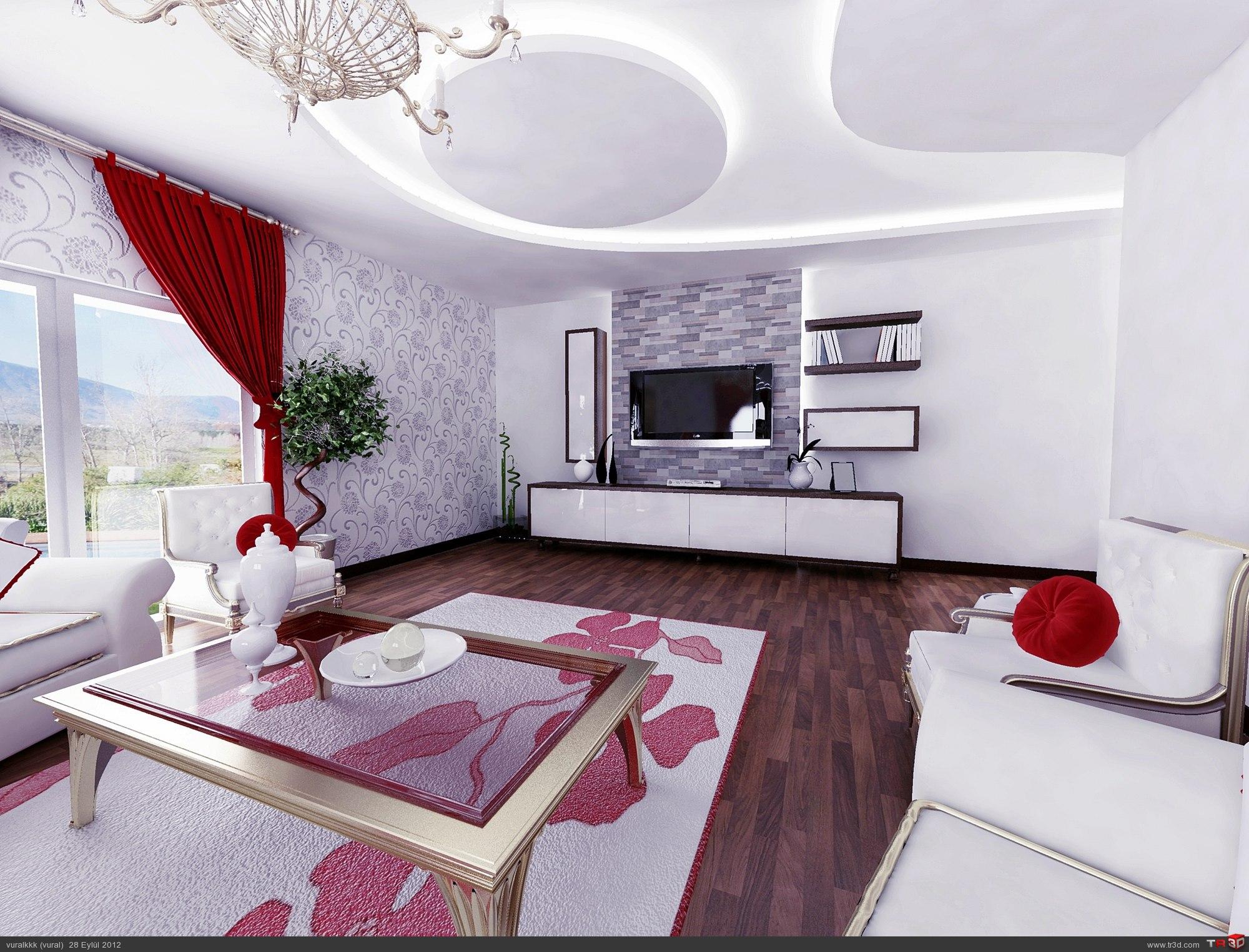 villa salon çalışması 1