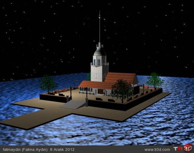 Basit Kız Kulesi Modelleme