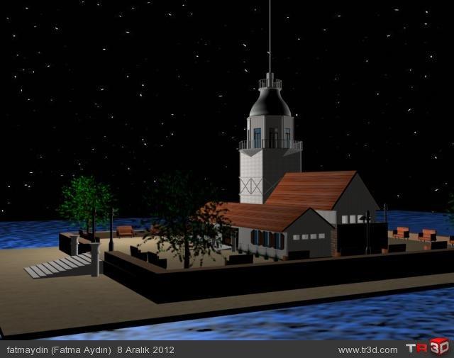 Basit Kız Kulesi Modelleme 1