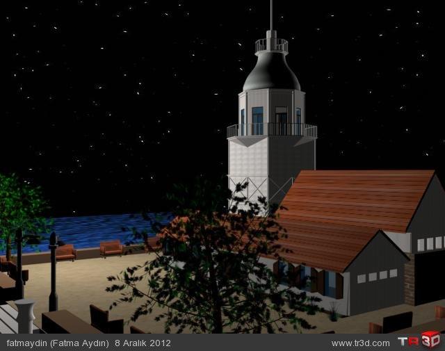 Basit Kız Kulesi Modelleme 2