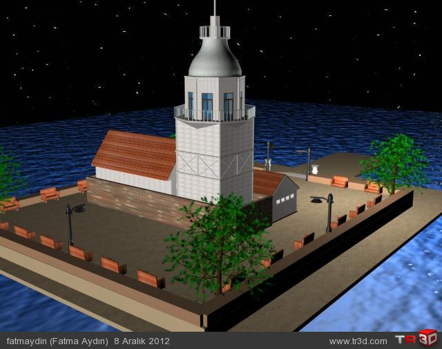Basit Kız Kulesi Modelleme 3
