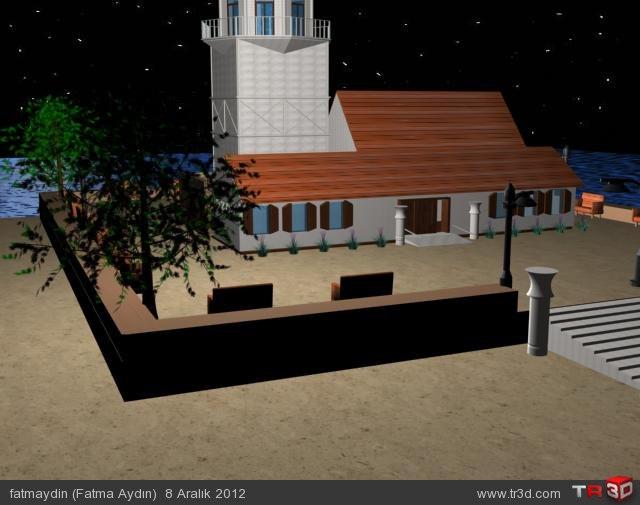 Basit Kız Kulesi Modelleme 4