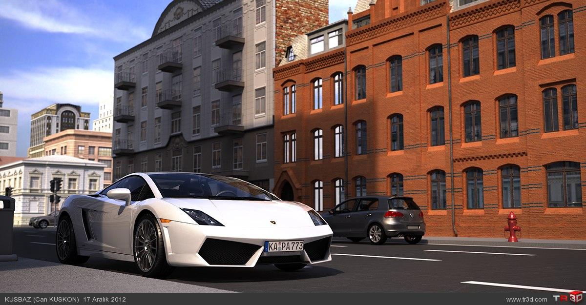 White Lamborghini 1