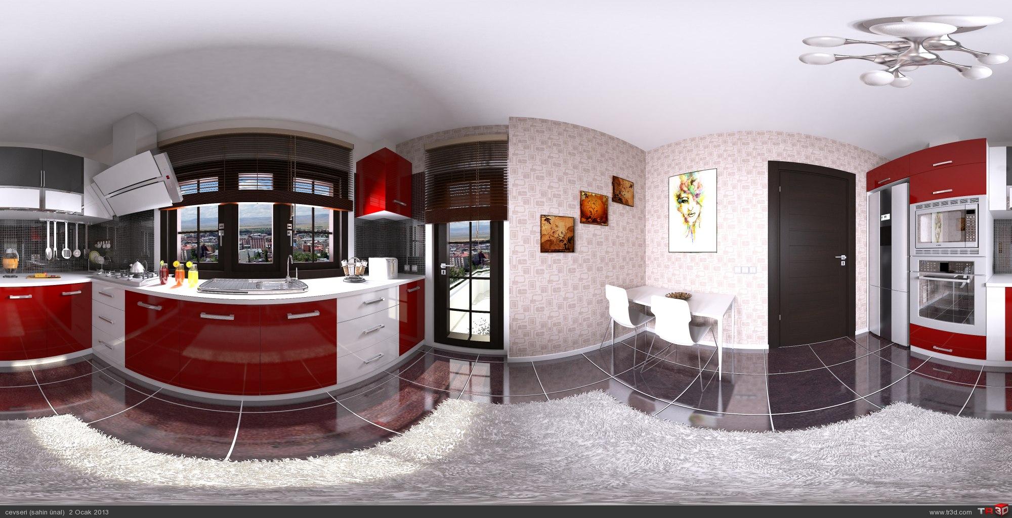 panoramik mutfak