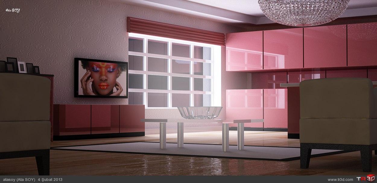2+1 mutfak salon