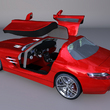 Mercedes SLS AMG open Wing