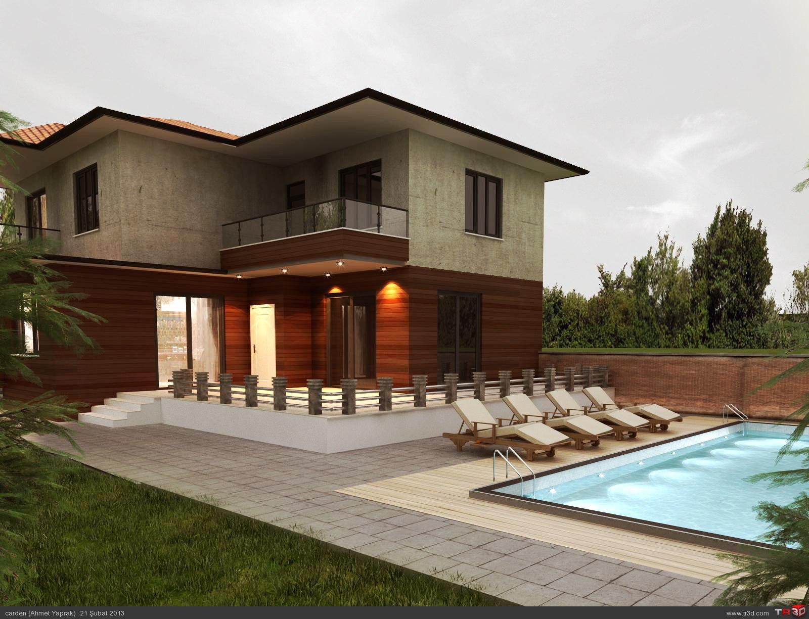 Villa concept production mimari projeler for Concept villa