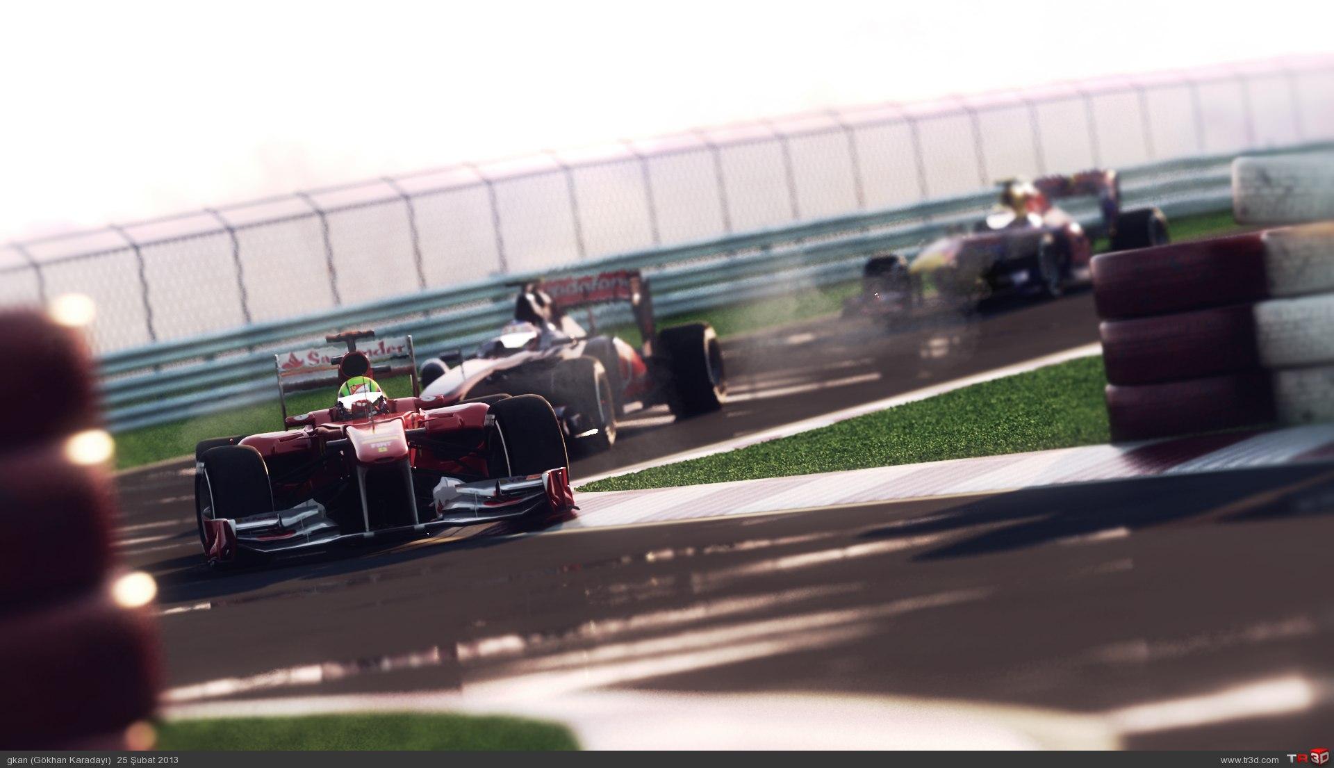 Yağmur Sonrası Formula1