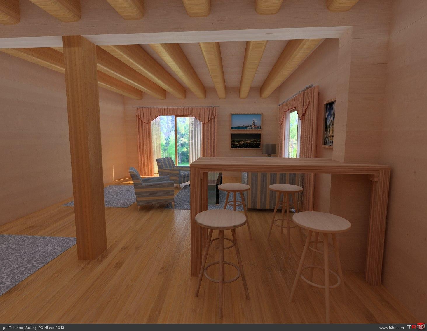 Ahşap ev / Wooden house 1