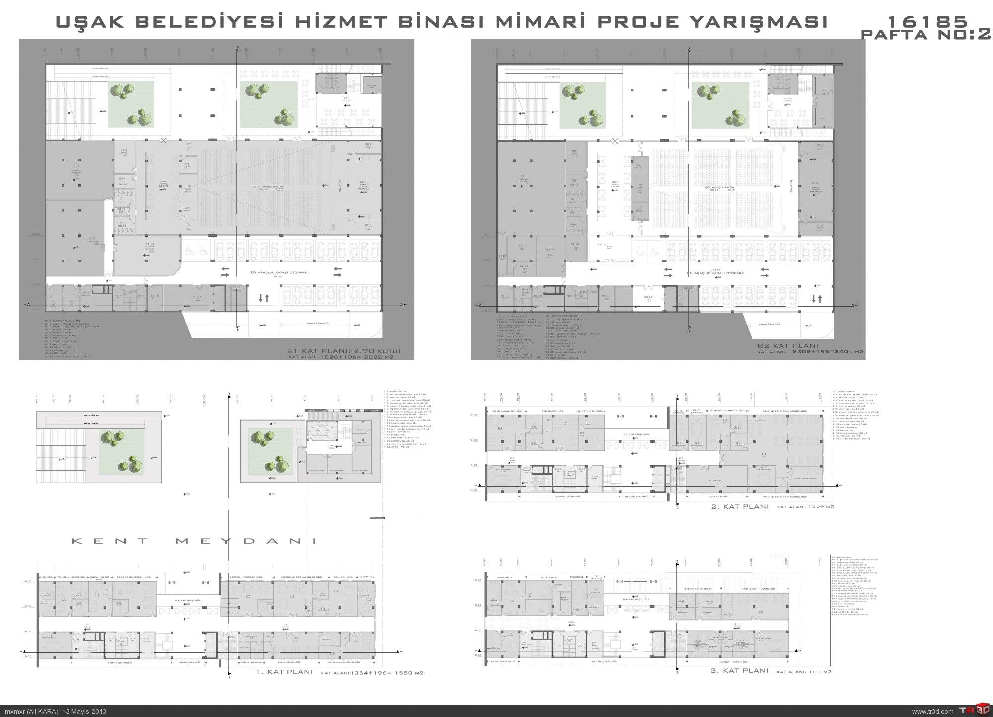 Uşak Belediye Binası Tasarımı 3
