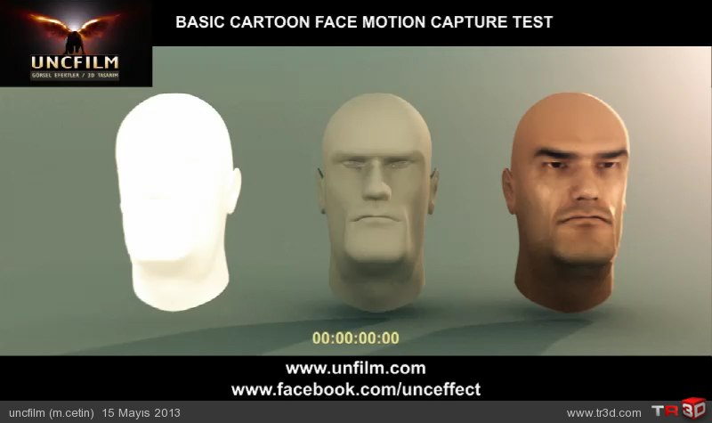 Cartoon Model / Mimiksiz basit yüz anim taslak