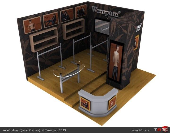 Wampum Jeans-Fuar Stand tasarımı.