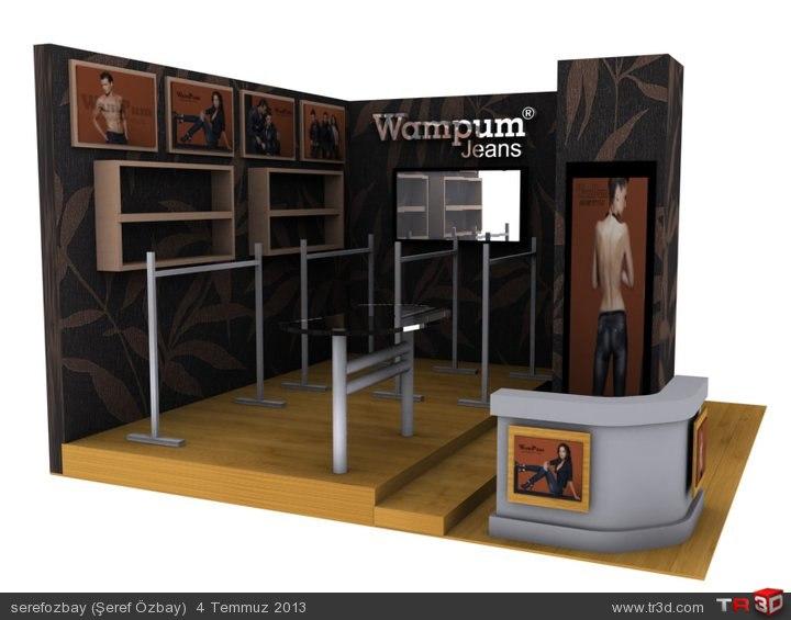 Wampum Jeans-Fuar Stand tasarımı. 1