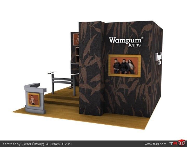 Wampum Jeans-Fuar Stand tasarımı. 2