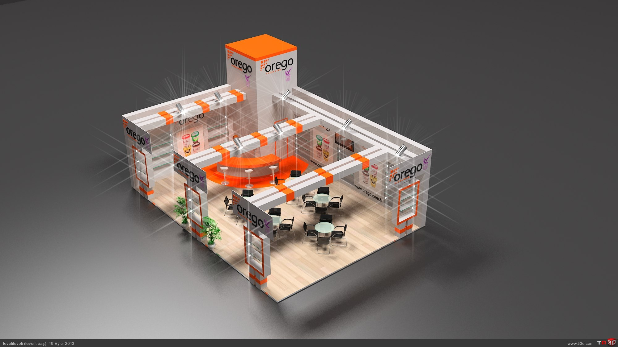 AHŞAP STAND OREGO