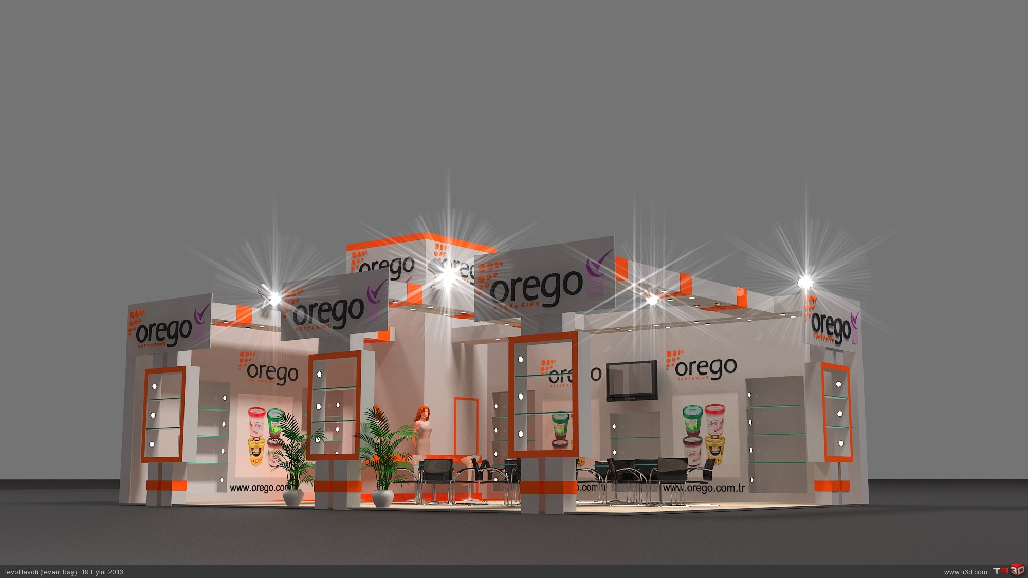 AHŞAP STAND OREGO 5