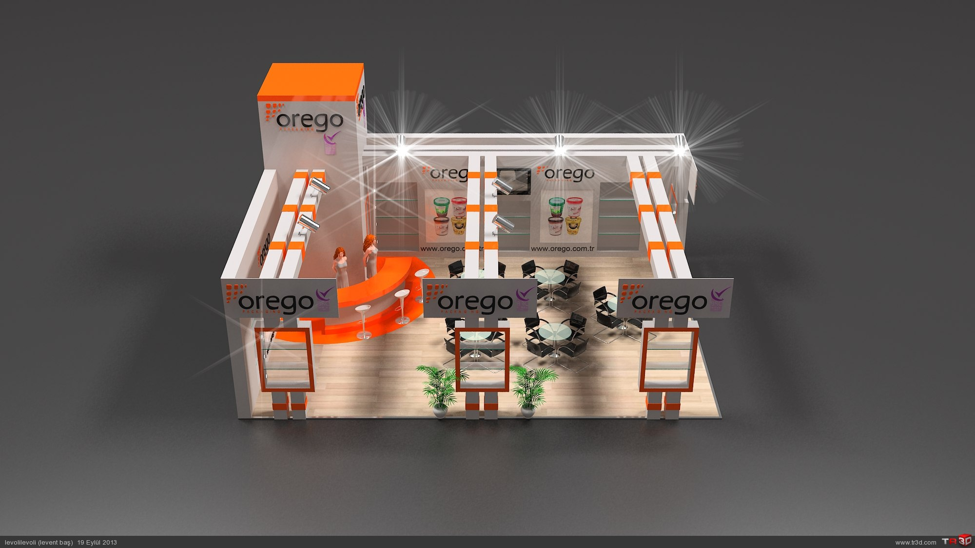 AHŞAP STAND OREGO 6