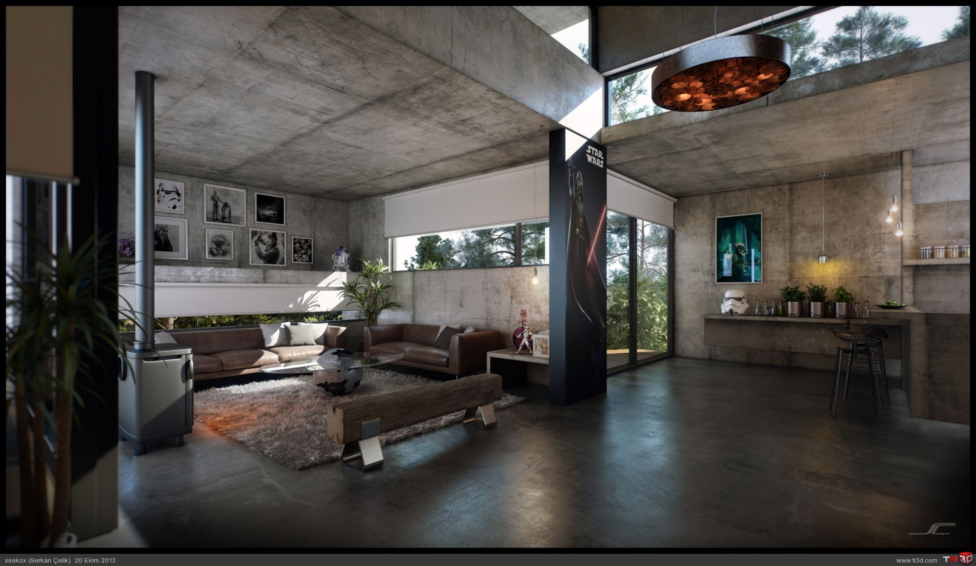 Jd house mimari projeler for Concrete home design ideas