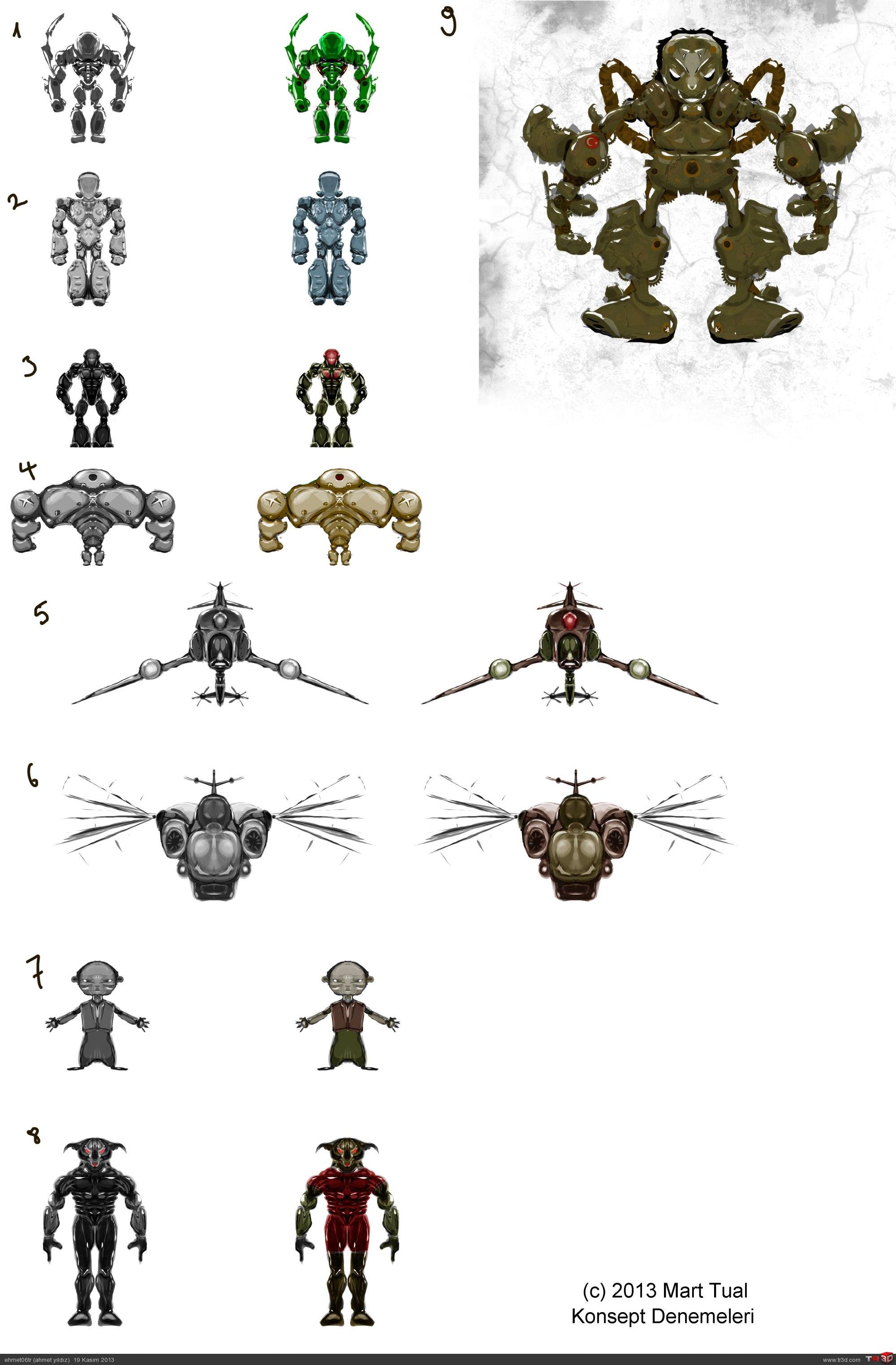 Droid Konsept Tasarımlarım