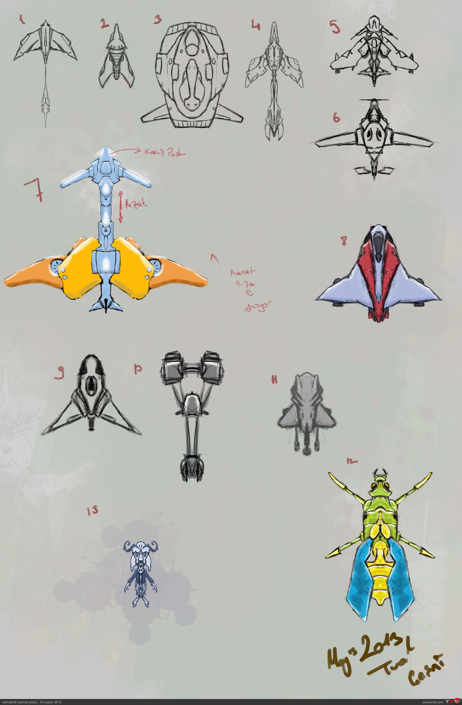 Spaceship Konsept Tasarımlarım