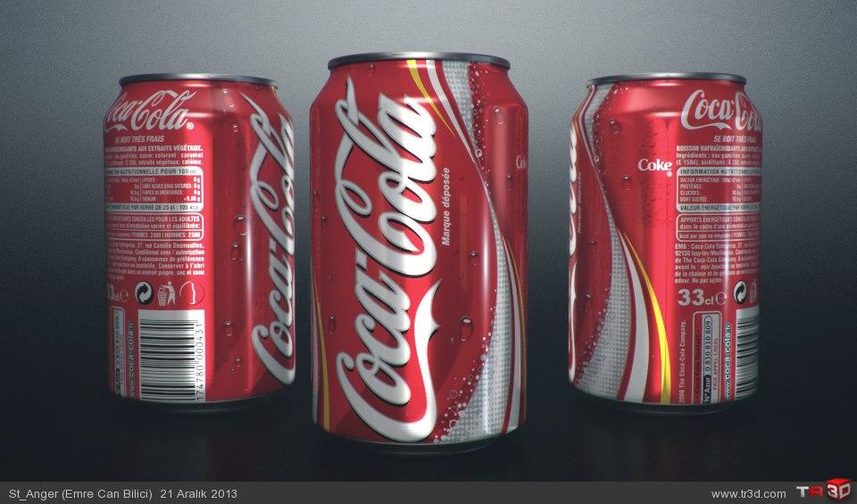 Mental ray photorealistic CocaCola Render Çalışması