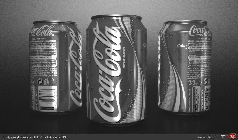 Mental ray photorealistic CocaCola Render Çalışması 1