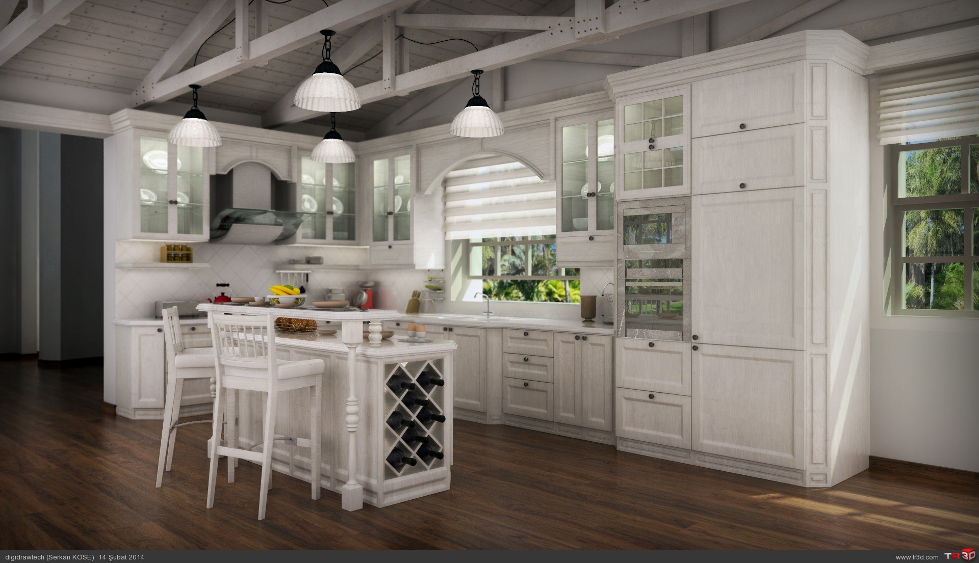 Model Home Kitchen Decor