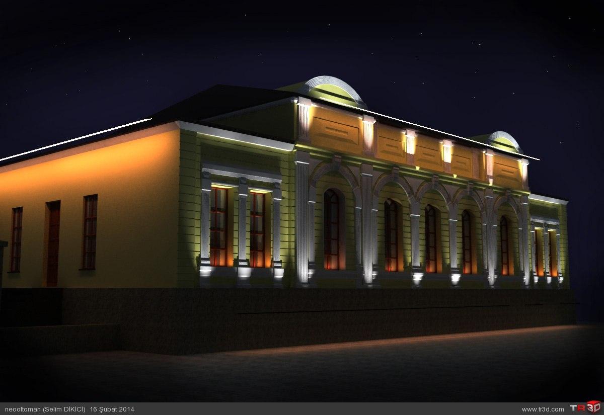 Kars Valilik Binası ışıklandırma