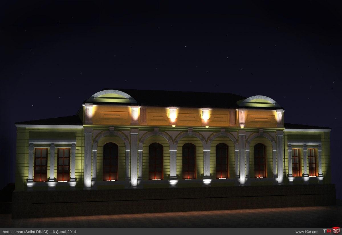 Kars Valilik Binası ışıklandırma 1