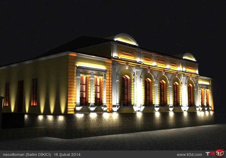Kars Valilik Binası ışıklandırma 2