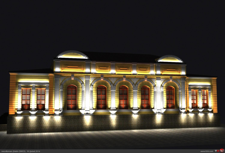 Kars Valilik Binası ışıklandırma 3