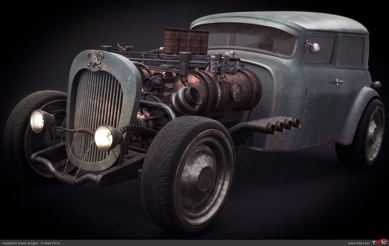 Steampunk Hot rod 1