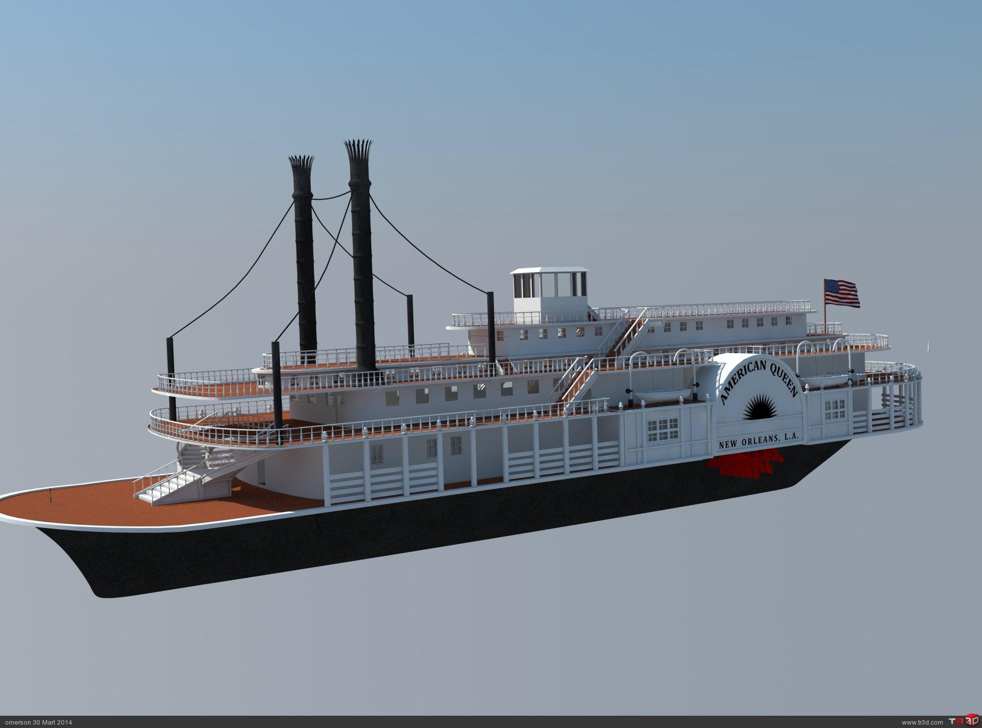 Buharlı nehir teknesi 1