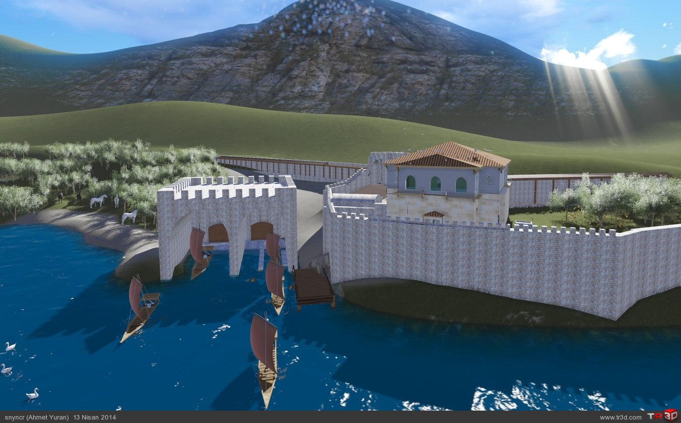 Kubad Abad Sarayı Küçük Saray Restitüsyon Animasyonu 1