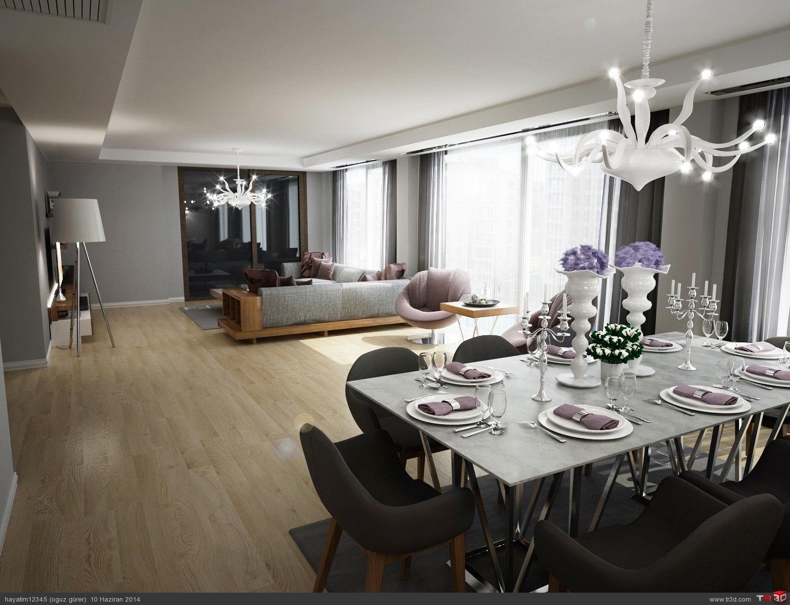Camlıca Selimoğlu Villa Salon Mimari Projeler