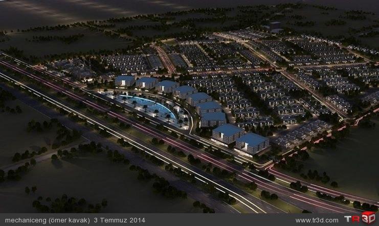 global city mimari animasyonu
