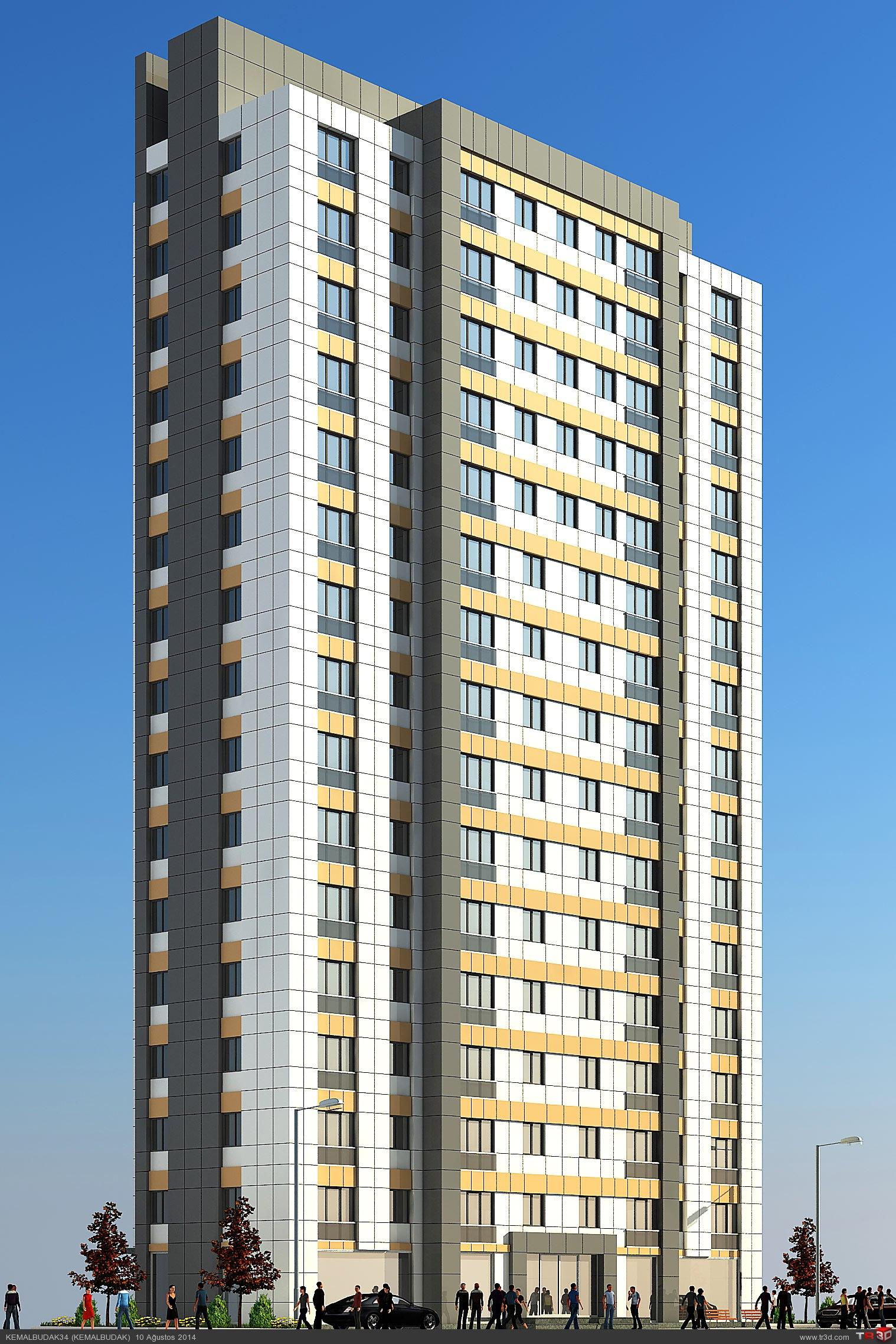 15 katlı bina