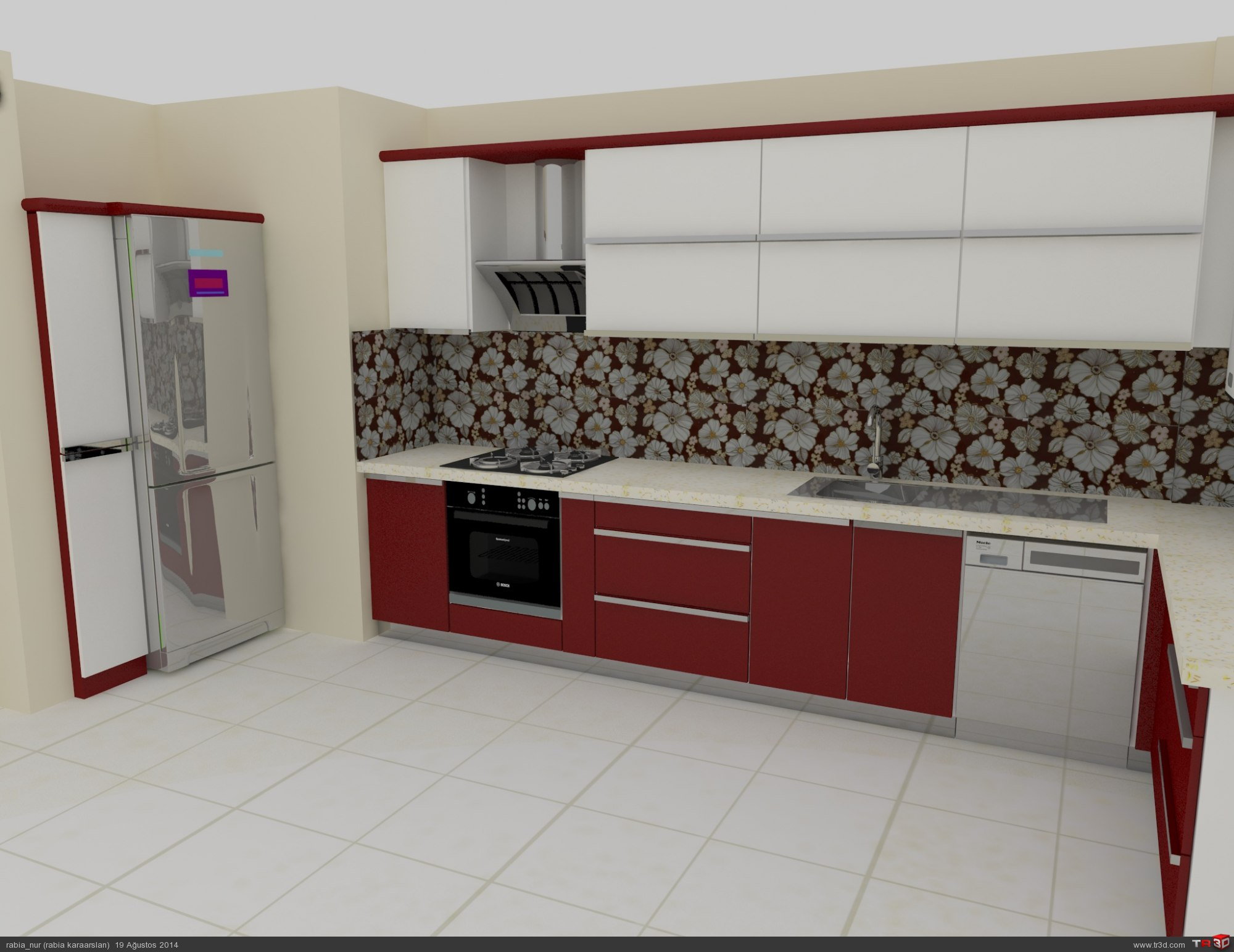 kırmızı mutfak 1