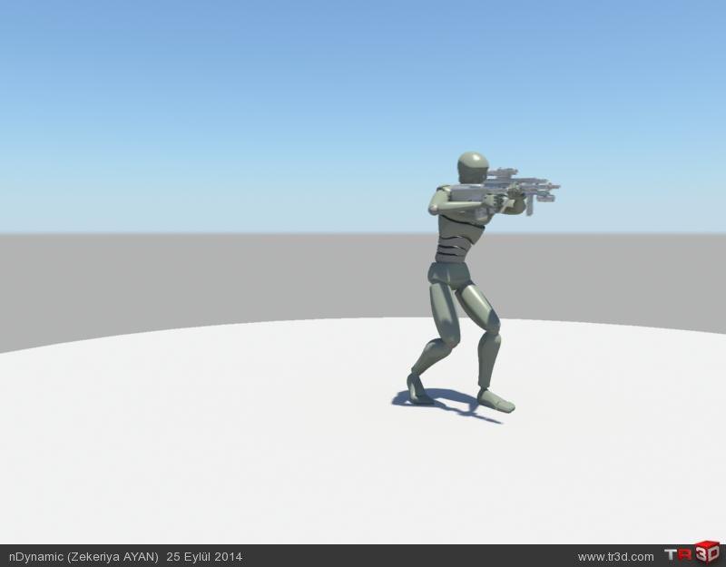 Asker ve sniper animasyon