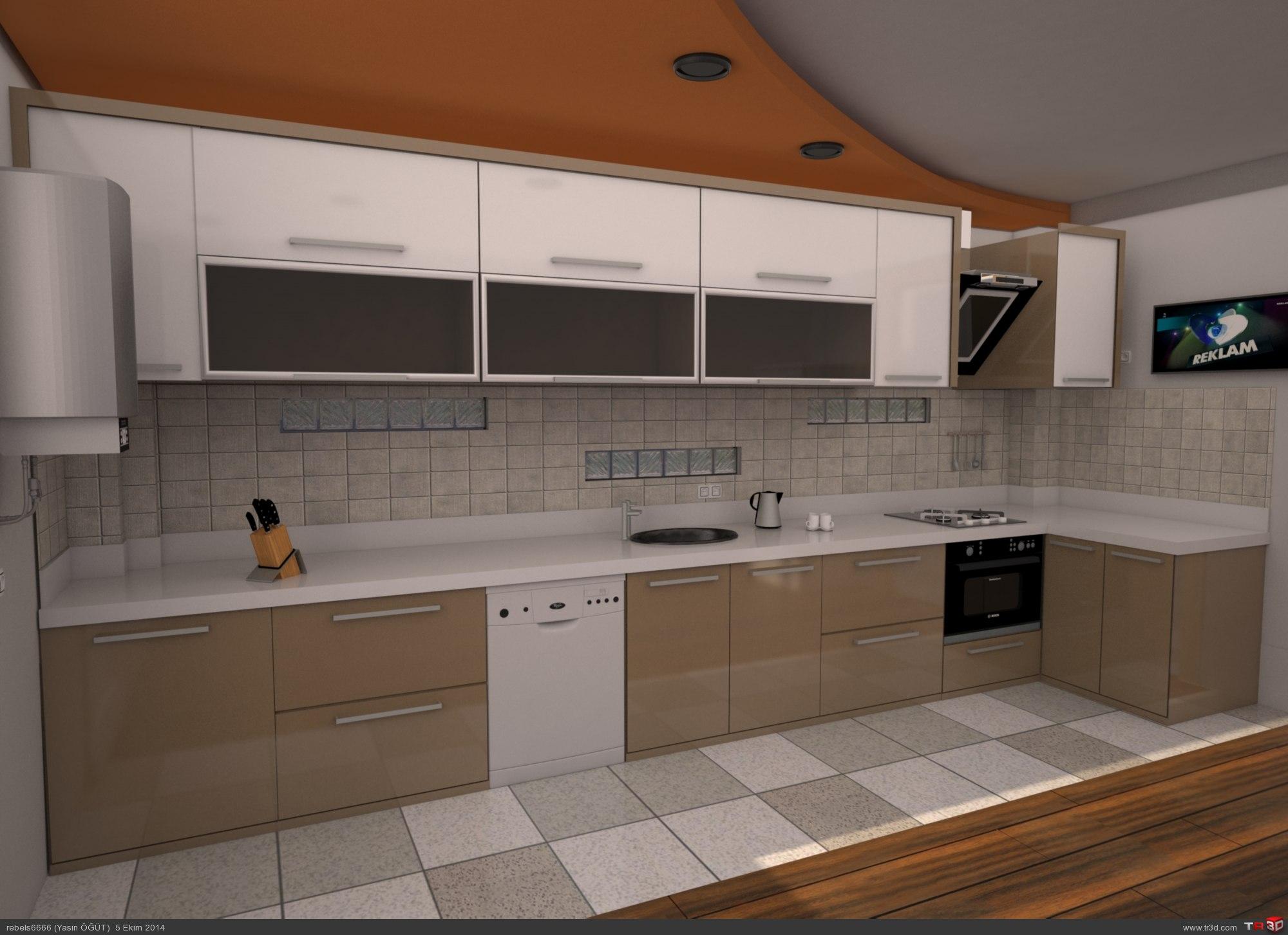Mutfak dolabı tasarımı 1