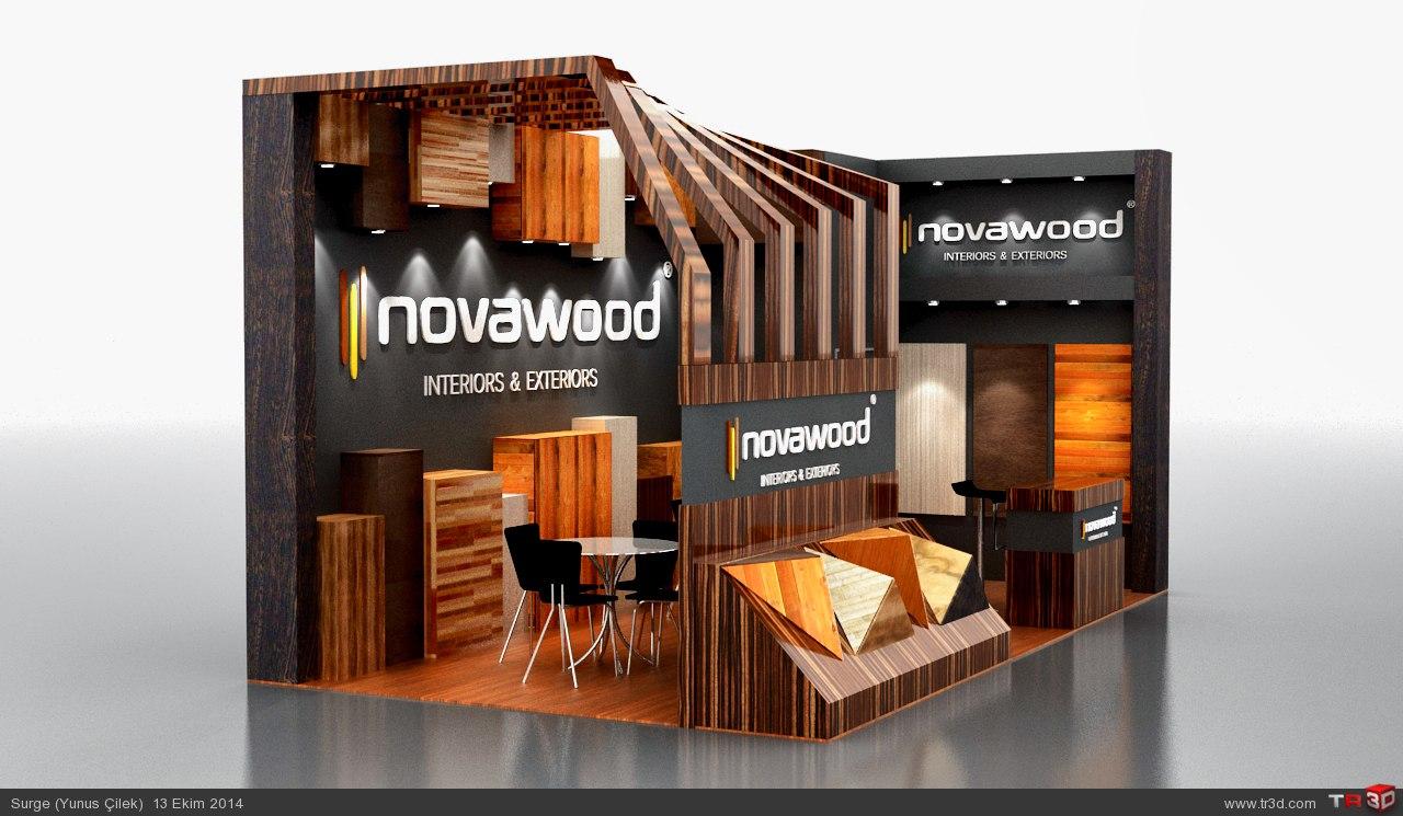 Novawood Firması için yapılan stand tasarımım
