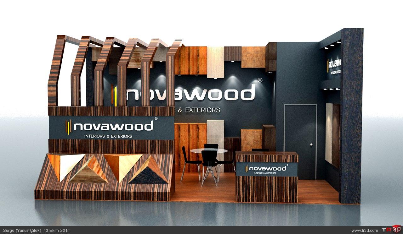 Novawood Firması için yapılan stand tasarımım 1